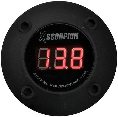 Xscorpion DVM3RB Voltmeter Digital 3 Digit Led Display Schwarz