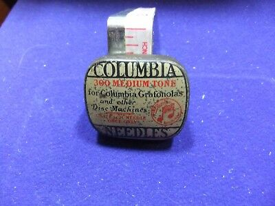 vtg needle tin columbia medium tone needles 300 gramophone record