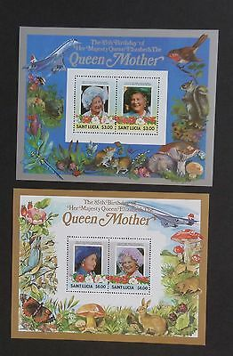 St Lucia 1985 85th Birthday Queen Mother  MS MNH UM unmounted mint
