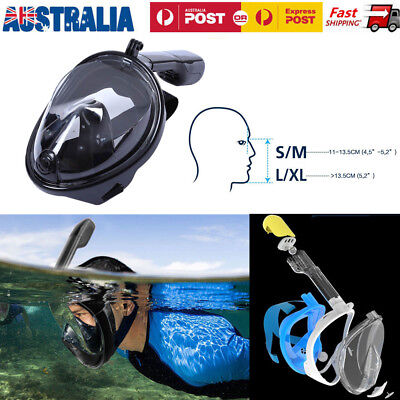 Scuba Mask Full Face Easy Panoramic View Snorkeling Gear Diving Masks Adult&Kids