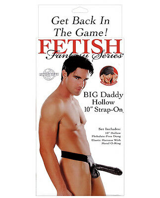 "Fetish Fantasy Series Big Daddy Hollow 10"" Dildo Strap-On System + Cream Gift"
