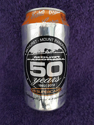 Coopers Beer Can Bathurst Mount Panorama 50 years 1963 - 2012  V8 Supercars