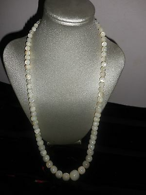 European Antique Mother of Pearl Necklace 24""