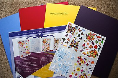 Creative Memories Seasonings Stickers & Paper Kit Spring Summer Winter Autumn
