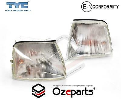 Pair LH+RH Corner Light Indicator Lamp Clear For Ford Falcon EA EB ED 1988~1994