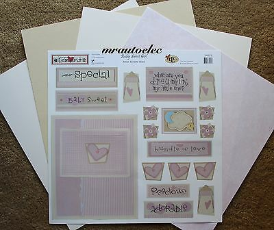 TLC 12x12 Baby Sweet Girl Page Completion Kit - Titles Pink Love Special Hearts