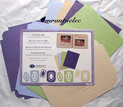 Creative Memories Title Page Kit Borders Frames embossed