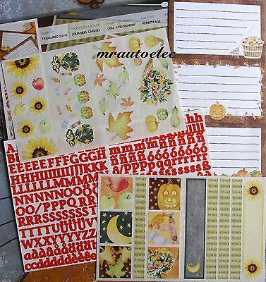 Creative Memories Treasured Days Album Kit Autumn Pumpkin ABC