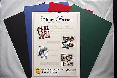 Creative Memories Paper Boxes Die Cut Photo Mounting Paper Kit