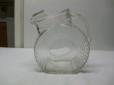 Vintage Anchor Hocking Manhattan Park Avenue Pitcher With Ice Lip