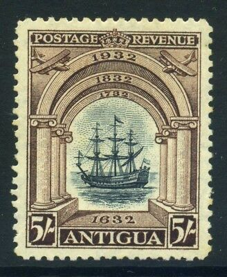 Antigua 1932 5s, Tercentenary High Value, MLH SG90