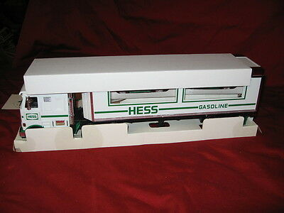 Hess Truck NIB 1997 Transporter Truck with 2 Racers