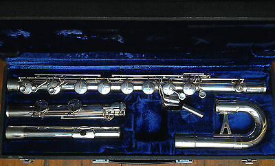 Armstrong Bass Flute, Silver Headjoint **FREE SHIPPING** (Vídeo link below)
