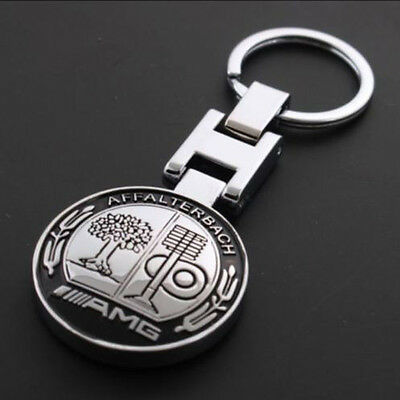Metal Mercedes Benz AMG Keychain Creative Accessories Auto Parts SUV Car Keyring