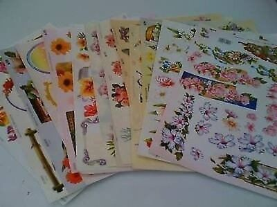 TBZ 500 Assorted A4 3D Embossed Decoupage Sheets
