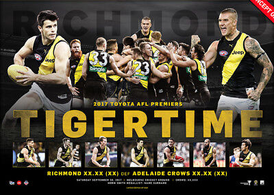 Richmond Tigers 2017 AFL Premiers Official Print Only Martin - In Stock Now