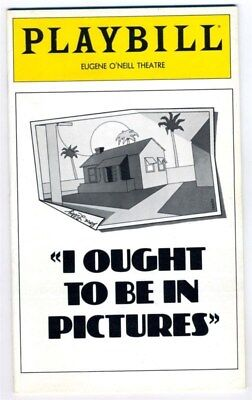 Playbill I Ought To BE In Pictures Ron Leibman Dinah Manoff Joyce Van Patten.