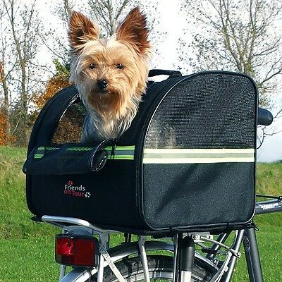 Trixie back Bicycle/Bike Box Carrier Transport Travel Black Dog / Puppy 13112