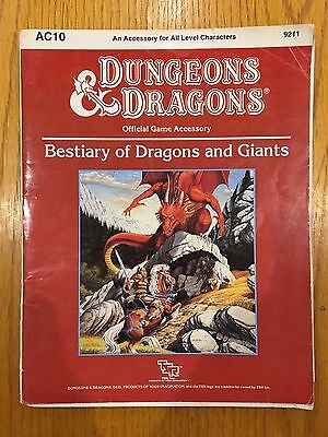 Dungeons & Dragons - Bestiary Of Dragons And Giants - D&D TSR