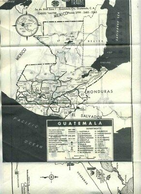 Guatemala Trip Maps and Special Itinerary 1958 Hayter Travel