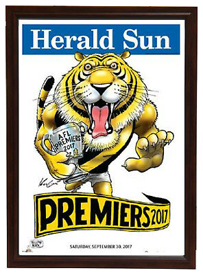 Mark Knight Herald Sun Richmond 2017 Premiers Print Framed Dustin Martin Cotchin