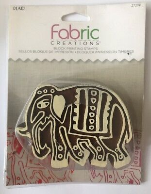 Plaid Fabric Creations Block Printing Stamps Parade Elephant 27206 New/Sealed