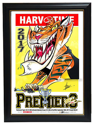 2017 Premiers Richmond Tigers Harv Time Limited Edition Print Framed - IN STOCK