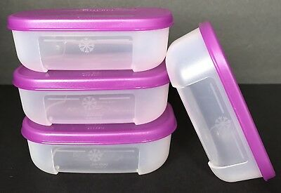 Tupperware Freezer Mates® Mini 4 oz Containers Set of 4 Purple New
