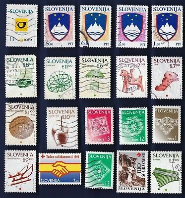 20 All Different Slovenia  Stamps