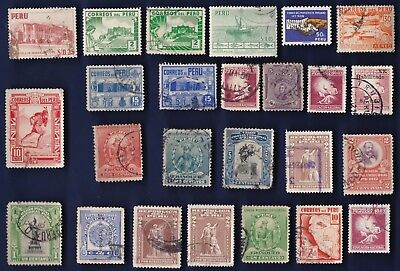 25 All Different  Peru Stamps