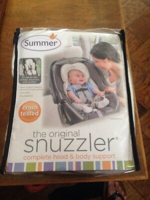 Summer Infant Snuzzler Baby Head & Body Support Ivory Unisex NIP Cars Swings