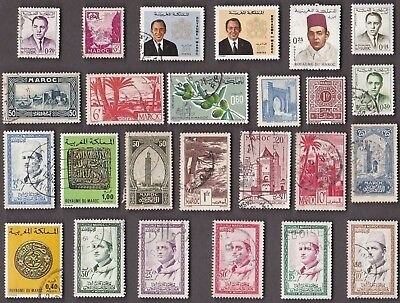 25 All Different FRENCH MOROCCO / KINGDOM  Stamps