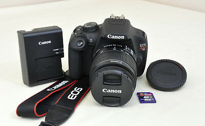 Canon EOS Rebel T5 1200D 18.0 MP DSLR Camera Kit EF-S 18-55mm IS II Lens and Bag