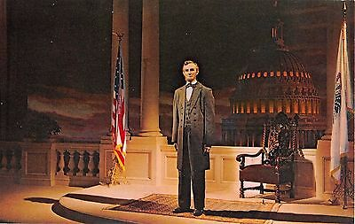Disneyland postcard Great Moments with Mr. Lincoln