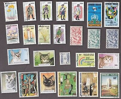 25 All Different TOGO  Stamps