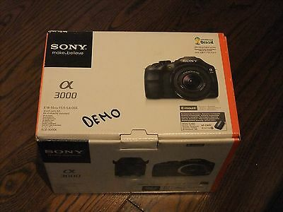 Demo Sony Alpha a3000 Black 20.1MP Digital Camera with E OSS 18-55mm Lens