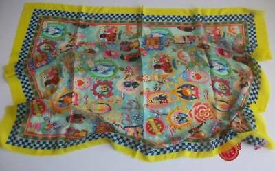 NWT Oilily Dutch Anniversary Icon Angel Wool Fall Ladies Scarf 45.5x45.5 Inches