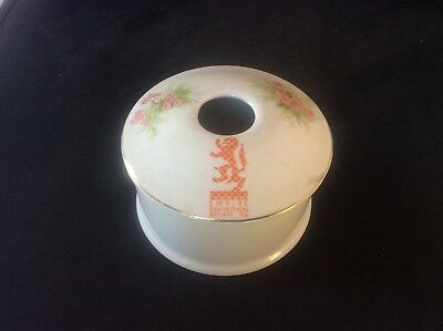Glasgow Scottish 1938 Empire Exhibition WH GOSS Trinket Bowl Dish +lid Floral 18