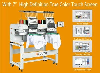 2017 RICOMA Embroidery Machine MT-1502 Dual Head 15 Needle