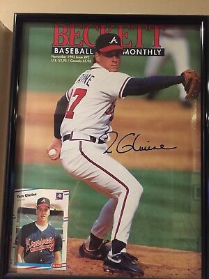 Tom Glavine Autographed Beckett Cover with Letter from Glavine
