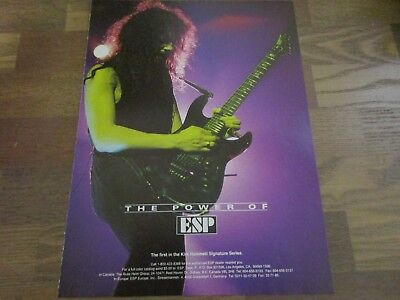 ESP Electric Guitars - Kirk Hammett Signature Series - Metallica 1990's Print Ad