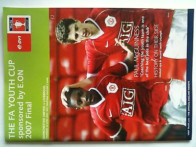 MINT 2006/07 Manchester United v Liverpool FA Youth Cup Final 2nd Leg