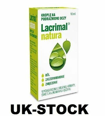 Lacrimal NATURE Eye Drops Sore Irritated Eyes - Krople do Oczu Oczy Podraznione