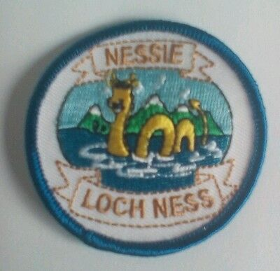 Nessie Loch Ness Monster Scotland Embroidered sew  on Patch