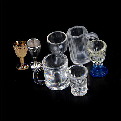 1:12 Dollhouse Miniature Kitchen Glass Beer Wine Cup Drink Bottles 1or2X JX