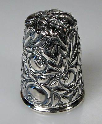 thimble sterling silver roses Thorvald Greif Germany new