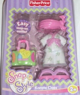 Snap N Style Fisher Price KARATE CLASS Outfit ~ NEW~