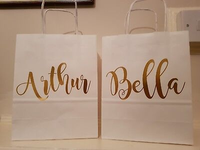 Personalised gift bag, wedding favours, bridesmaid, bridal party, hen party.
