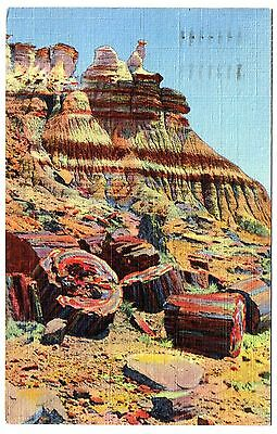 The Snow Lady Near Eagle Nest Rock Arizona Pmk 1945  Postcard.# P.f. 34