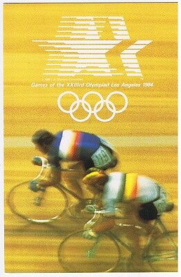 Cycling - 1984 Los Angeles Summer Olympics Postcard # 4Opz 0024